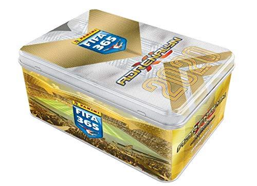 Panini 000832 Adrenalyn XL Sammelkarten FIFA 365, Saison 2019/2020, Mega Tin Dose mit 10 2 limitierten, 6 Karten je Booster, bunt