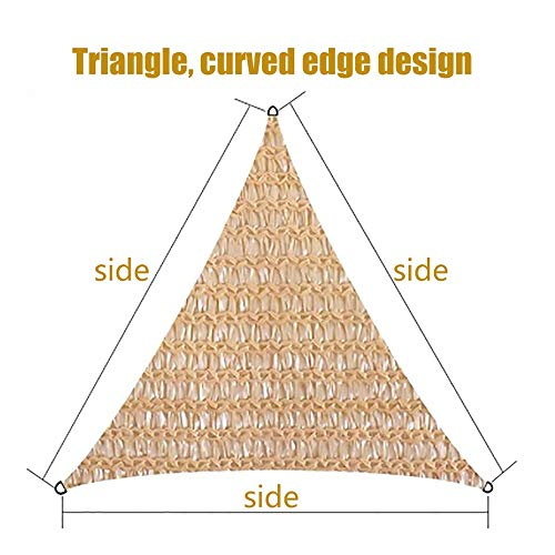 YUDEYU Triangle Protection Solaire Balcon Patio Voiture Plantes En Pot Filet D'ombre (Color : Beige, Size : 5x5x5m)