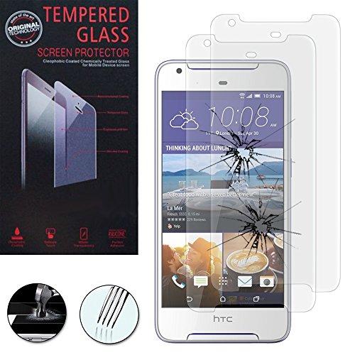 VComp-Shop® 2x Hochwertige gehärtete Panzerglasfolie für HTC Desire 628/ 628 dual sim - TRANSPARENT