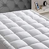 JEAREY Full Mattress Pad Cover Stretches up 8-21' Deep Pocket - Cooling Overfilled Quilted Fitted Mattress Topper Pillowtop with Snow Down Alternative