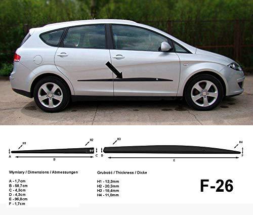 Spangenberg Barres de protection latérales noires pour Seat Altea XL Van Break années de construction 2006-2015 F26 (3700026).