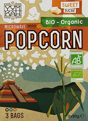 Yum Kah Popcorn für die Mikrowelle süß, glutenfrei, 4er Pack (4 x 270 g)
