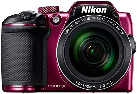 Nikon Coolpix B500 16MP Point and Shoot Camera with 40x Optical Zoom (Purple) + HDMI Cable + 16 GB SD Card + Carry Case product image