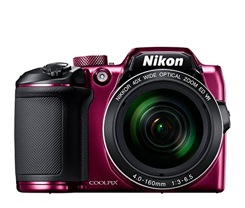 Nikon Coolpix B600 16 MP Point & Shoot Camera with 16GB SD Card, Carry Case and HDMI Cable (Red)