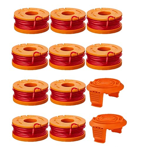 Trimmer Spool Line for Worx WA0010,Edger Spool fits for Worx Trimmer spools Weed Eater String,Weed Wacker Spool Replacement Parts,Trimmer Line Refills 0.065 inch for Electric String Trimmers 10 pack