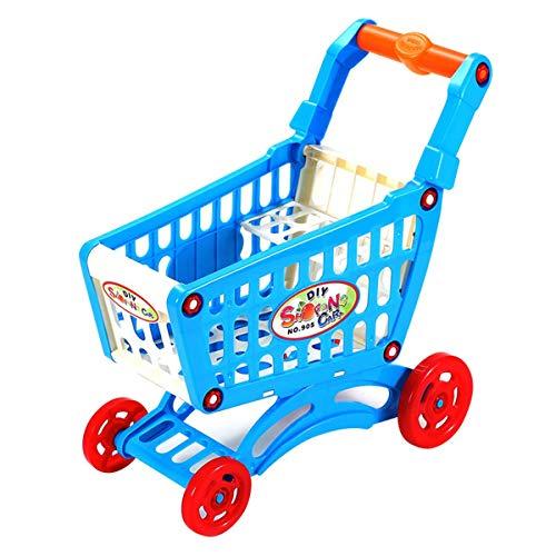 Nihlssen Simulación de Carrito de Compras de supermercado, Juguetes de Juego de simulación, Mini Carrito de plástico, Juguete de Regalo para niños