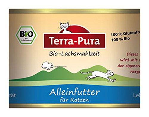 Terra Pura 6er-Set Lachsmahlzeit Katzenfutter 200g