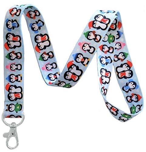 Schlüsselband mit Pinguinmotiv, Schlüsselanhänger, Ausweishalter