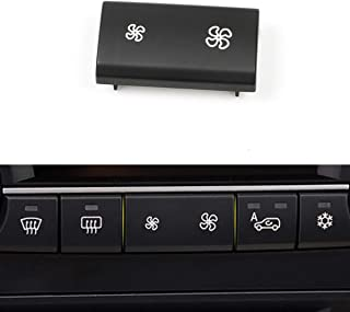 Moonlinks Air Conditioner Button Cover Heater Climate Control Air Conditioning Switch Button For BMW X5 E70 2006-2013 /BMW X5 E70 LCI 2009-2013, X6 E71 2007-2014(1 Piece)