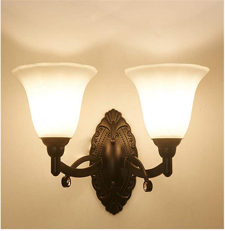 Wandleuchte Retro Interior Moderne Aisle, Schwarz Double Head Kronleuchter Lightings