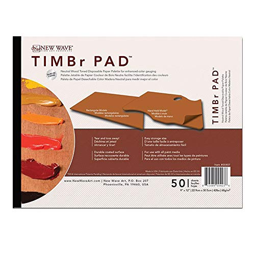 New Wave TIMBr Disposable Paper Palettes - Rectangular 9'x12'