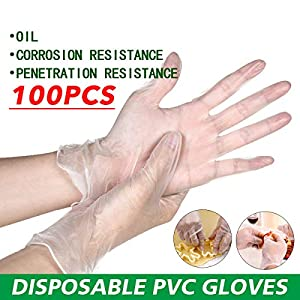 L 100 guantes desechables guantes en caja Guantes de PVC disponibles higi/énicos transparentes guantes protectores de seguridad desechables