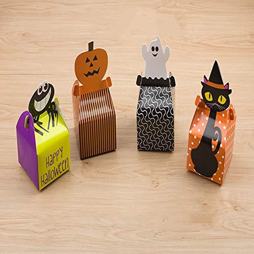 Halloween Süßigkeiten-Boxen Dracula Mummy Frankenstein Jack O Laterne Kürbis Goodie Boxen für Partygeschenke, Dekorationen und Süßigkeiten Partyzubehör (40 Stück) (Stil B)