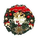 Oyfel Noel Christmas Cheminee Couronne Porte Party Decorations Set 30CM
