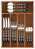 Chef Essential Bamboo Utility Drawer Organizer, Kitchen Silverware tray, 5-Compartment,...