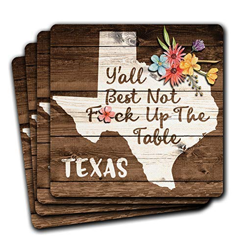 Free shipping New Texas State Shipping included Gift Souvenir Coaster 4pc Set