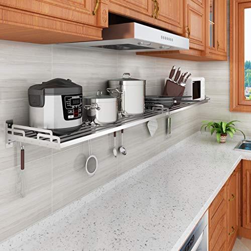 JJJJD Küchenwandregal aus Edelstahl Reiskocher Ablageboden 60 * 36cm (größe : 120cm)