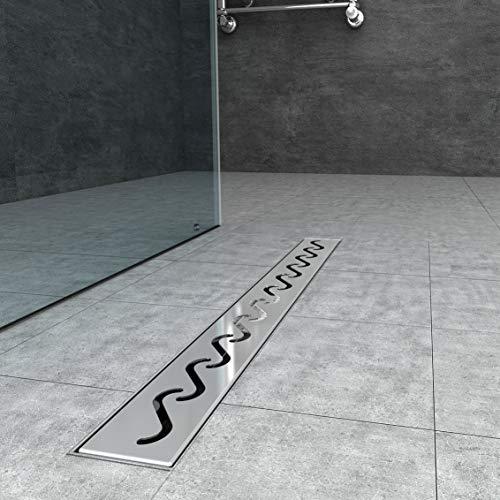 Duschrinne 60cm edelstahl Bodenablauf Ablaufrinne Duschablauf Randablauf Boden Ablauf Rinne Badezimmer Bad Länge