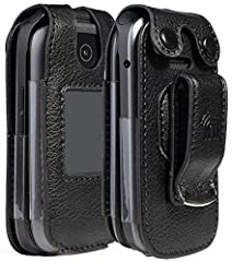 """Form-Fit Protective Case Made Specifically for the """"Link"""" Flip Phone from Consumer Cellular Plastic Vinyl Layer Offers Protection for Screen and Keypad Metal Clip Allows You to Clip the Case to Belt or Waistband Your Phone Remains Fully Functional in..."""