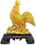 SHUMEISHOUT Nouveau Style Statues, Chinois Feng Shui Chanceux résine Zodiac Gold Coq Statue plaquée Décoration de Maison Décoration de la Maison Charm de Charme de Charme