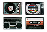 Placemat set nostalgia hifi equipment Retro Style retro style