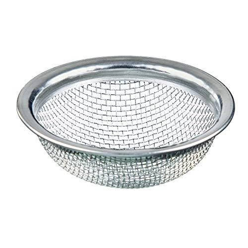 mysale24.de Shisha Wasserpfeifen Tonkopf Sieb Einlegesieb mit sehr festem Edelstahlgitter Edelstahl Hochwertige Verarbeitung Tabakkopf Tabaksieb - groß