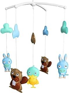 Lit bébé unisexe rotatifs amis mignons animaux de mobiles musical