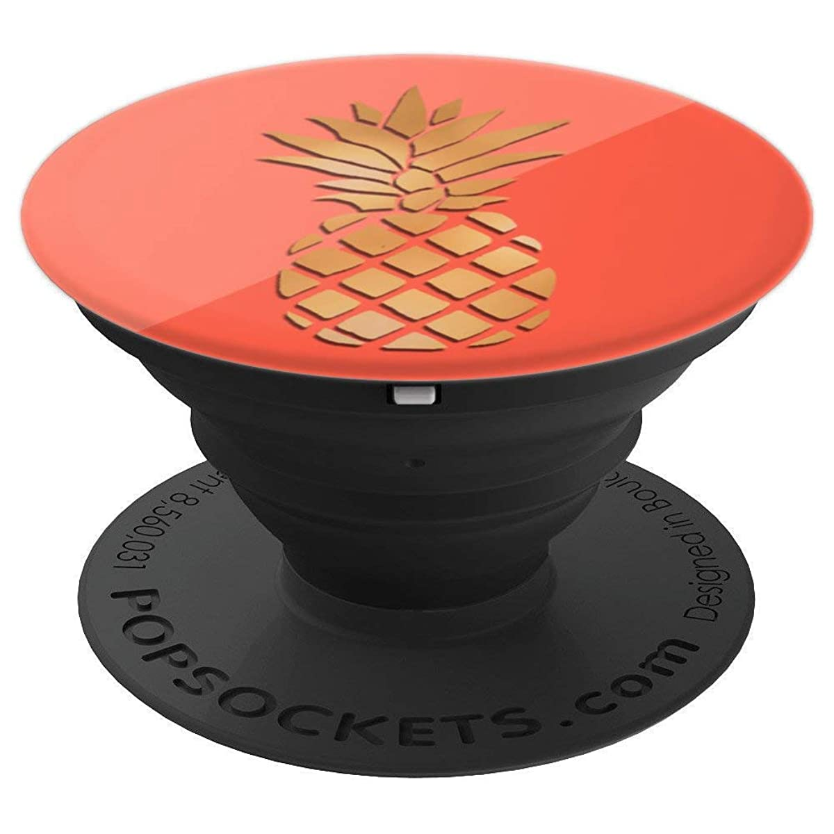 Pineapple Pop Socket - Popsocket Gold Pineapple Coral Design - PopSockets Grip and Stand for Phones and Tablets