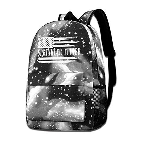 Hdadwy Aspersor Fitter Bandera Estadounidense Unisex Star Bandolera Galaxy Sky Impreso Mochila Escolar Mochila Galaxy Sky Starry Bag Daypack