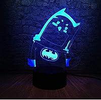 giyiohok 3DLedナイトライト子供用照明7色段階的に変化する子供向けデコレーション子供向けギフト誕生日USBPowered-A4-A13