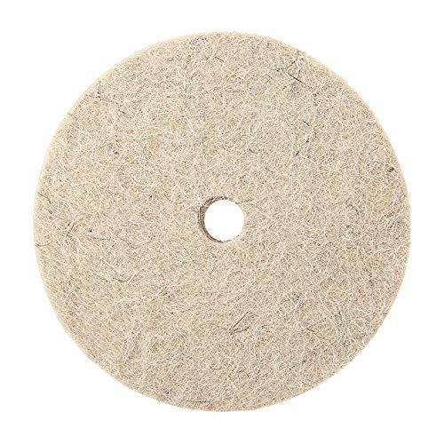 75 mm/3 pulgadas de lana de fieltro de rueda de pulido almohadilla para madera, metal pulido práctico para router de potencia pulido herramienta abrasiva