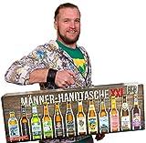 Kalea Männerhandtasche | Geschenkidee | Bier-Spezialitäten | Geschenk-Karton mit Henkel | Geburtstagsgeschenk | Flaschenbiere von Privatbrauereien (Männerhandtasche XXL 12x0,33l)