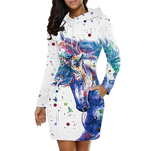 U/A - Sudadera de manga larga con capucha para mujer, diseño de otoño Nzlmwy-10 XL