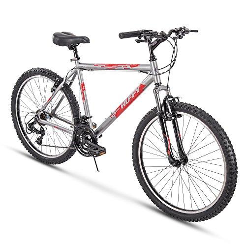 Huffy Hardtail Mountain Trail Bike 24 inch, 26 inch, 27.5 inch, 26 inch wheels/20 inch frame, Gloss Nickel
