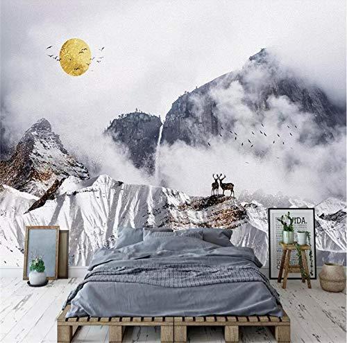 QAQB Sneeuw Berg Achtergrond Muur Decoratieve Schilderij Fabriek Mural Fotobehang