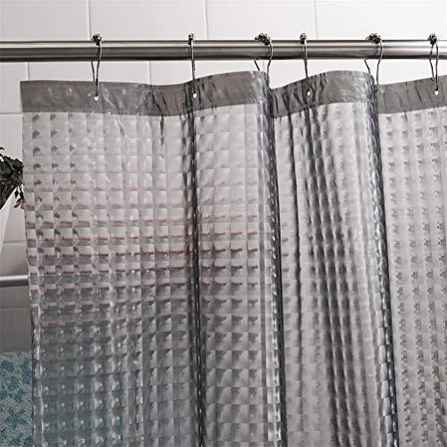 Feidaeu DuschGardinen PEVA 3D WasserWürfel Thicken 3D Semi-Transparente Wasserdichte Bad Dekoration Bad Vorhang, 180x180cm, 180x200cm