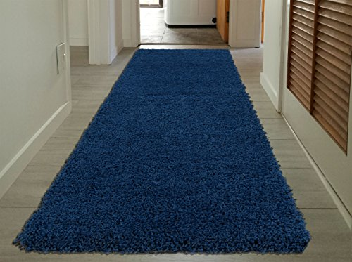 """Sweet Home Stores COZY2866-3X8 Runner Rug, 2'7"""" x 8', Navy Blue"""