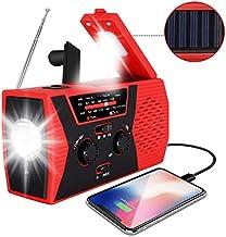 [2020 Upgraded Version] RegeMoudal Emergency Solar Hand Crank Radio, NOAA Weather Radio..