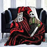 Kiki Aces Blankets Funny Cute Sad Ja-Son-Voorhees Today is 12th Friday Flannel Fleece Plush Anti-Pilling Cozy Bed Throws for Home - 60x50 Inches