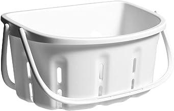 Bestonzon Plastic Shower Organizer Basket Bathroom Storage Basket Plastic Shower Containter Storage Baskets with Handles S...
