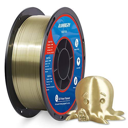 PLA Silk Filamento per stampante 3D, 1,75 mm, filamento PLA 1 kg, stampante 3D, PLA Shiny Silk Bronzo