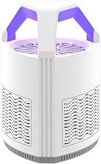 Leilims Brandless 5W ultrasónica del Asesino del Mosquito LED eléctrico Mosquitera, Cable de 1,2 m con la lámpara Ultravioleta, Papaya Repelente de Mosquitos de la lámpara, Blanca