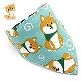 Hihey Triángulo de Perro Impreso Bufanda Collar Ajustable Collar de Perro Babero con Bell Pet Puppy Bufanda Saliva Toalla Babero