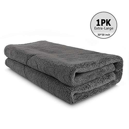 AIDEA Microfiber Drying Towel, Cleaning Cloths, Scratch-Free, Strong Water Absorption Drying Towel for Cars, SUVs, RVs, Trucks, and Boats Gifts (30 in. x 30 in.)-Grey