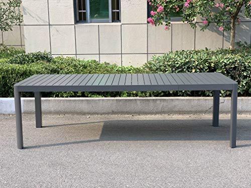 Alu Gartentisch 240x100cm Terrassentisch Balkontisch Esstisch Gartenmöbel Tisch