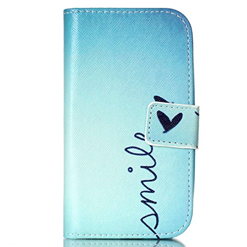 Yihya Elegante Book Style Custodia in Pelle per Samsung Galaxy Ace 3 S7272, PU Leather Flip Wallet Magnetica Protettiva Stand Cover Case con Card Slots + Stylus Pen-Stile 02