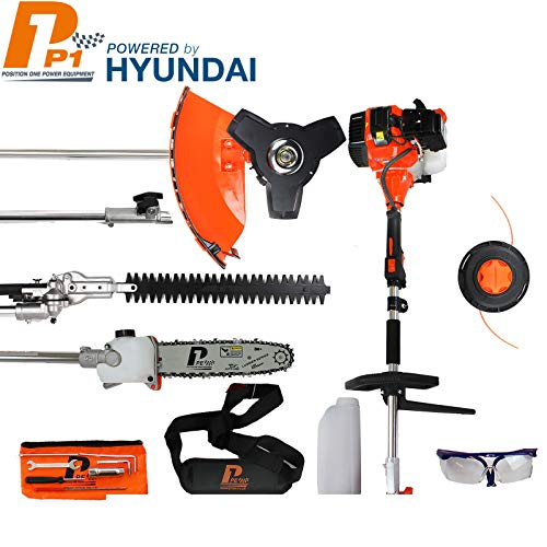P1PE P5200MT 52cc Petrol Garden Multi Tool inc Hedge Trimmer, Pole Saw, Brush Cutter, Grass Trimmer...