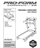 Icon Health & Fitness, Inc. Owner's User's Manual 347933 Works with Proform Crosswalk Fit 415 831.248530 Treadmill