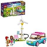 LEGO 41443 Friends Coche Eléctrico de Olivia, Juguete de Construcción Eco-didáctico, Educacción Ambiental para Niños y Niñas a Partir de 6 años