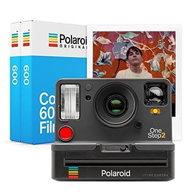 Polaroid Originals 9009 OneStep 2 Viewfinder Instant Film Camera, Graphite with Originals Instant Color Film for 600 - Double Pack, White (4841)